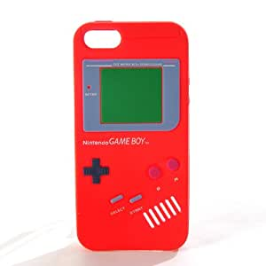 Nintendo Game Boy Design Soft Silicon Protective Case Skin Cover for New iPhone 5 Red