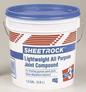 Sheetrock joint compound ready mixed 1 gl sand general for Bathroom joint compound