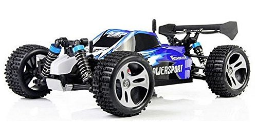 Wltoys A959 Vortex 1/18 2.4G 4WD Electric RC Car Off-Road Independent Suspension Buggy RTR-Blue (Electric Buggy compare prices)