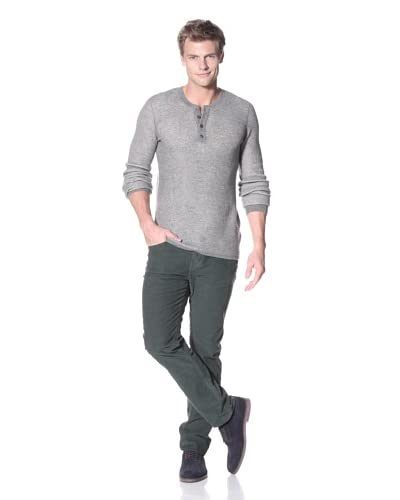 Vince Men's Thermal Long Sleeve Henley Knit