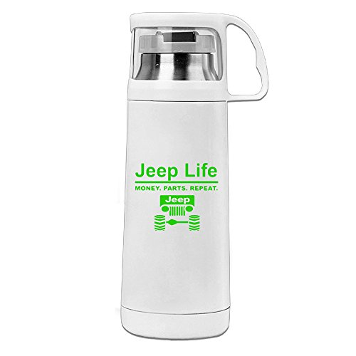 [BigBoo Jeep Life - Money Parts Repeat Leakproof Stainless Steel Mugs White] (Assassins Creed Unity Costume Customization)