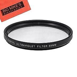58mm Multi-Coated UV Protective Filter For Nikon 55-300mm f/4.5-5.6G ED VR AF-S DX Nikkor + Cap Keeper + MicroFiber Cleaning Cloth