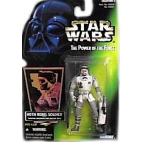Star Wars Power of the Force Green Card Hoth Rebel Soldier Action Figure - 1
