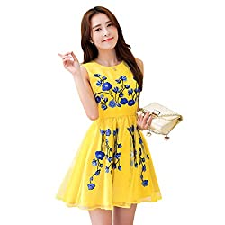 Rozdeal Designer Yellow Colour Semi Stitched Western Wear