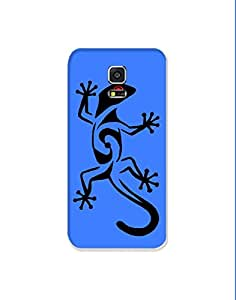 Samsung Galaxy S5 nkt-04 (73) Mobile Case by Mott2 - Abstract Lizard - Statement (Limited Time Offers,Please Check the Details Below)