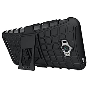 DEFENDER SERIES POLY-CARBONATE PC KICKSTAND BACK CASE COVER FOR ASUS ZENFONE MAX ZC550KL