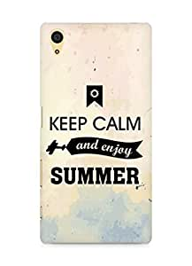 Amez Keey Calm and Enjoy Summer Back Cover For Sony Xperia Z5