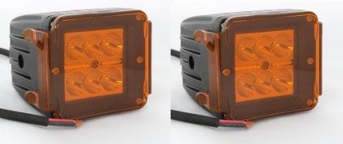 "Oc Gizmo 3"" Led Pod Driving Light Dually D2 3X3 Atv Tractor Jeep Motorcycle Bike Boat Atv Utv Off Road 4X4 Jeep Yamaha Rhino Rigid D Series Spot Light Beam With 2X Amber Cover (Pack Of 2)"
