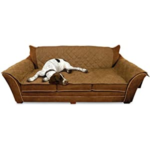 Amazoncom kh furniture pet cover for couch mocha pet for Furniture covers for pets amazon