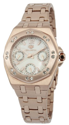 Wellington Moana Women's Quartz Watch with Mother of Pearl Dial Analogue Display and Rose Gold Stainless Steel Plated Bracelet WN510-388