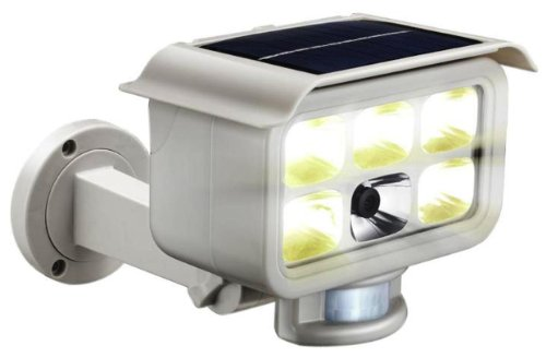 Home Advances Solar GD53347 Motion Sensor Solar LED Security Light with Built-In Color Video Camera