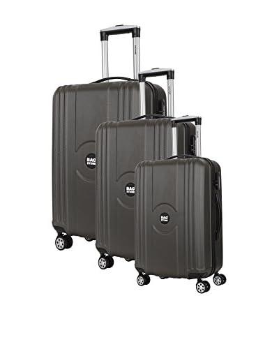 Bag Stone Set 3 Trolley Rigido [Grigio]