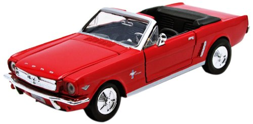 Motormax American Classics 1964 1/2 Ford Mustang Convertible 1/24 Scale Diecast Model Car Red (Classic Cars Models compare prices)
