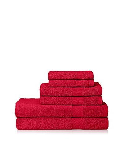 Espalma Deluxe Brights 6-Piece Towel Set, Ruby