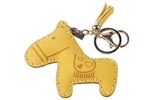 Portachiavi donna SOLO SOPRANI cavallo giallo in box confezione P32