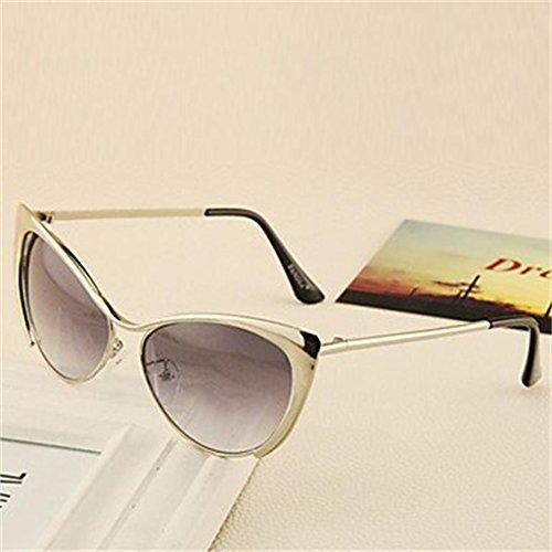 Gweat 100% UV400 Cat-Eye metallo retro occhiali da sole