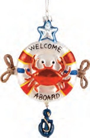 red-crab-in-a-life-saver-welcome-aboard-holiday-glass-6-inch-coastal-ornament-by-c-f-enterprises