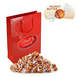 Lindor Special Collection Peanut Butter Chocolate Truffles (1 x 300g, 24 Truffles)