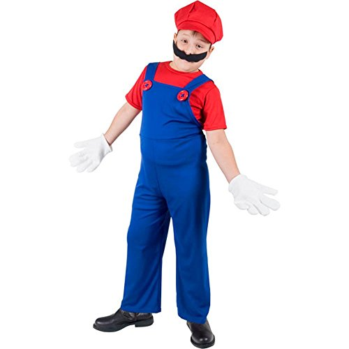 Kid's Super Mario Brothers Costume (Small 4-6)