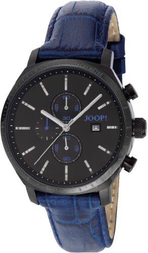 Joop  Phenomenon - Reloj de cuarzo para hombre, con correa de cuero, color azul