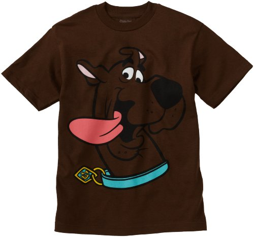 Scooby Doo Big Boys' Face License T-Shirt, Brown, X-Large front-929394