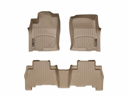 3D MAXpider Complete Set Custom Fit All-Weather Floor Mat for Select Audi TT//TTS Models Tan Kagu Rubber