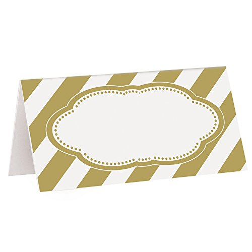 Gold Place Cards, 16ct (Seating Place Cards compare prices)