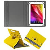 ROTATING 360 CASE YELLOW For CHAMPION 707 TABLET FLIP COVER