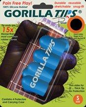 Gorilla Tips - Protezioni per polpastrelli, per chitarrista, misura S, colore: Blu