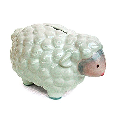 Child to Cherish Mini Lamb Bank, Gray - 1