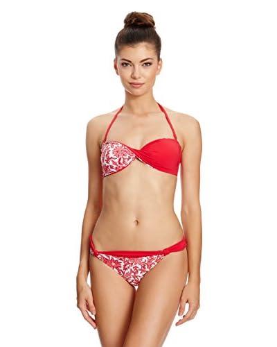 Charmante Bikini a Fascia [Rosso/Bianco]