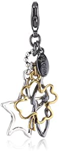 Pilgrim Women's Charms Pendant Silver Plated & Gold Plated, Multicoloured Mix 560329