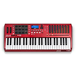 Akai Professional MAX49 49-Key USB MIDI Keyboard Controller with CV and touch faders