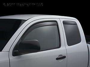 WeatherTech - 85426 - 2007 Chevy Silverado Dark Side Window Deflector Rear Pair