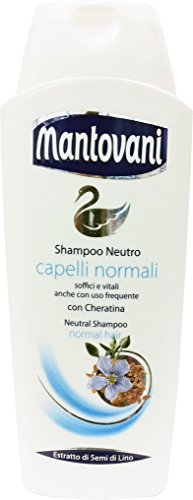 12 x MANTOVANI Shampoo Neutro Capelli Normali 400 ML