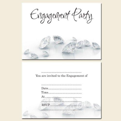 Engagement Party Invitations Postcard-Diamonds-Pack