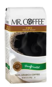 Mr. Coffee Decaffeinated Medium Roast Whole Bean Coffee, 12-Ounce Bags (Pack of 6)
