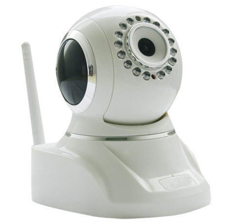 Wireless Pan & Tilt Network Ip Camera Wide Angle 3.6Mm Lens With Two Way Audio And Night Version