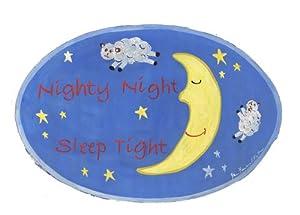 The Kids Room Night Night Sleep Tight Blue Oval Wall Plaque