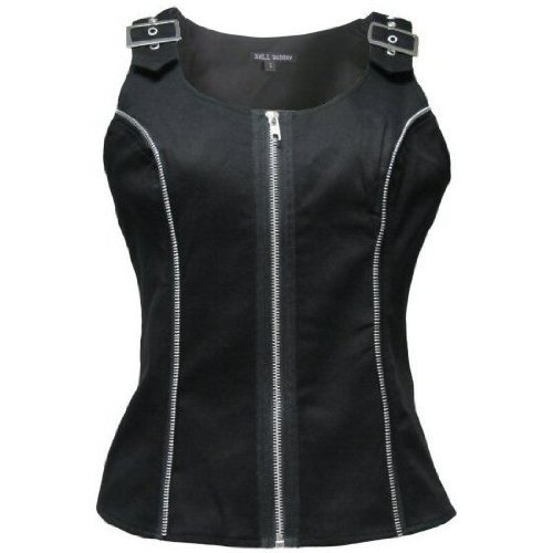 Hell Bunny Black Goth Oblivion Top Size 8