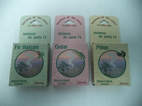 Balsam Fir 20 + Cedar 20 + Pinon Pine 20: 60 CHRISTMAS INCENSE CONES / LOGS (Cone Incense Campfire compare prices)