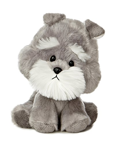 "Aurora World Wobbly Bobblee Schnauzer Plush, 6"" Tall"