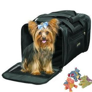Sherpa Delta Airlines Deluxe Pet Dog Cat Carrier Airline Approved Medium Black to 16lbs. BONUS Sherpa Mini Baby Dragon Toy