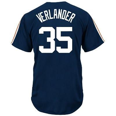 MLB Detroit Tigers Men's J Verlander 35 Crosstown Rivalry Jersey, Navy/Orange/White