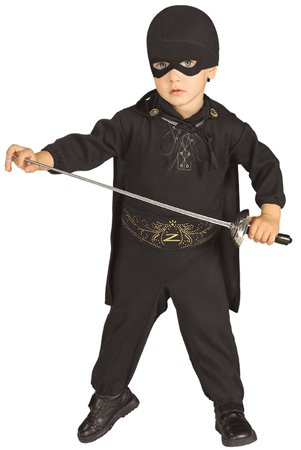 Zorro Romper And Headpiece Costume, 0-9 Months