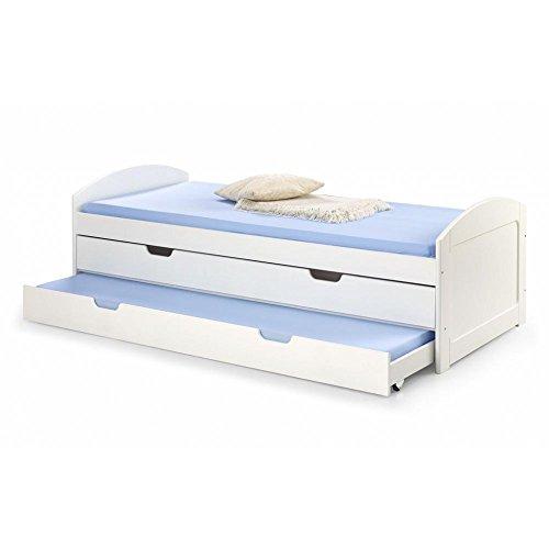 JUSThome Laguna Lit pour enfant/adolescent (HxPxL): 68x96x209 cm Couleur: Blanc