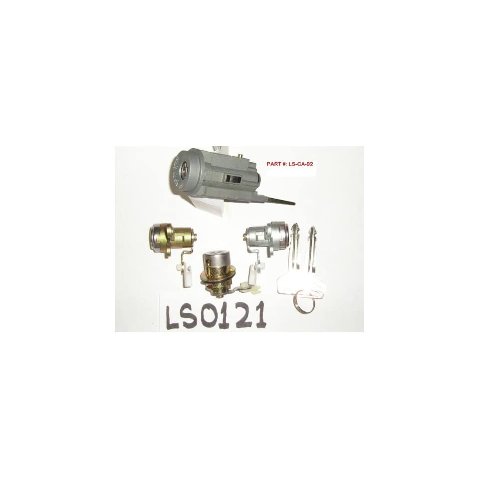 1992 1996 TOYOTA CAMRY IGNITION SWITCH CYLINDER, DOOR AND TRUNK LOCKS WITH MATCHING KEYS [LOCK SET]