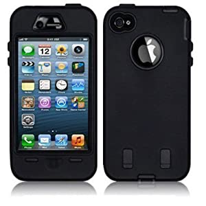 Neotechs® Black New Hard Shock Proof Armour Tough Case Cover for iPhone 5S