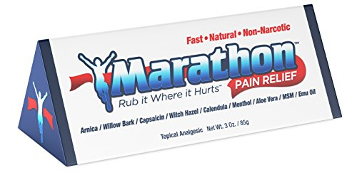 Marathon Pain Relief Natural Pain Relief Cream for Muscles and Joints - Emu Oil Infused