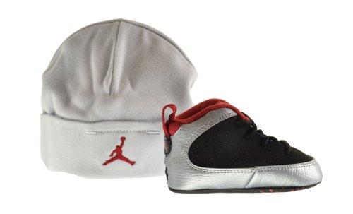 Jordan 9 Retro (GP) Infant Shoes Gift Pack Black/Gym Red-Metallic Platinum 401843-012 (2 M US)